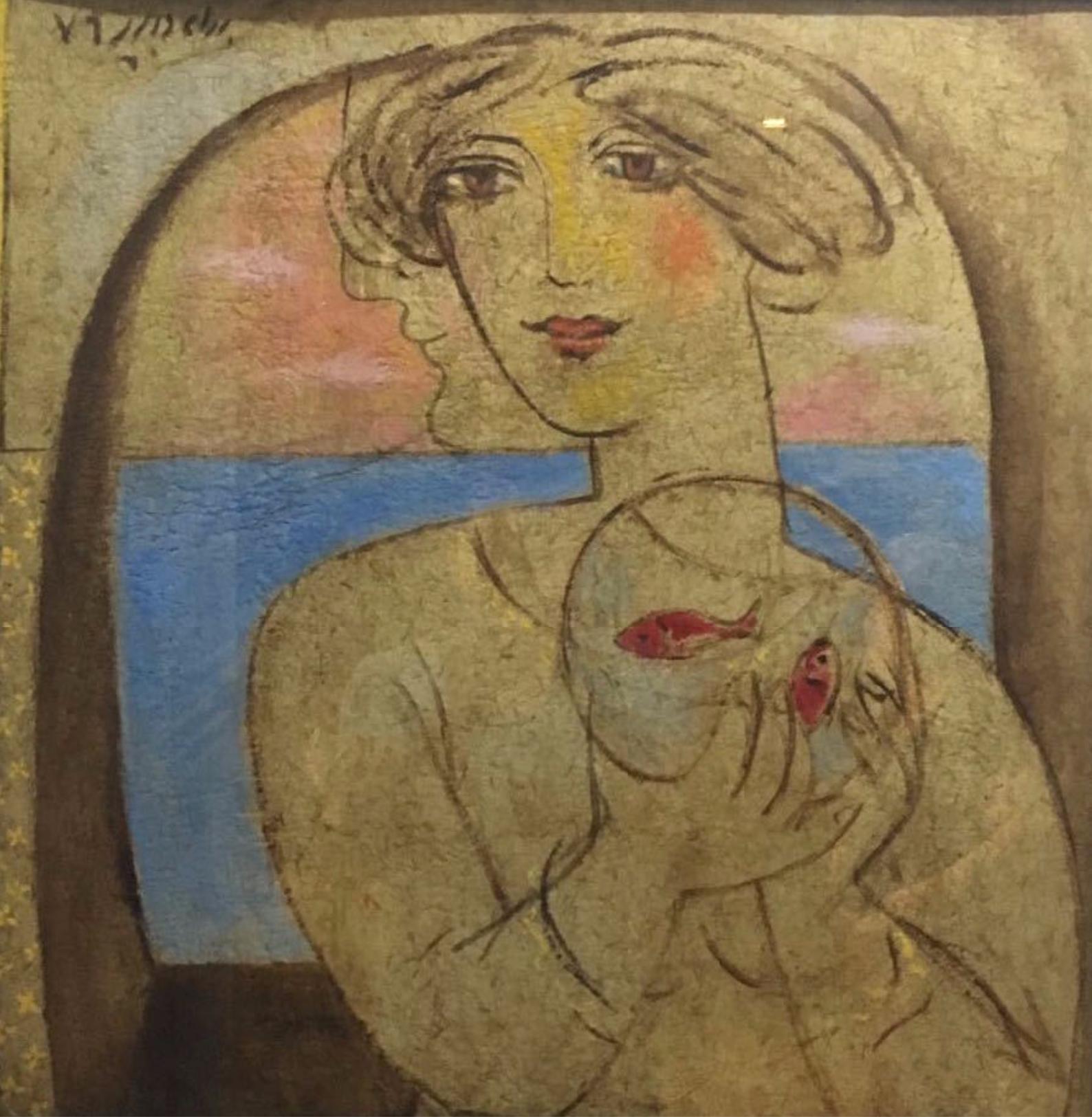 Bahram Dabiri, Untitled, mixed media on canvas, 1996