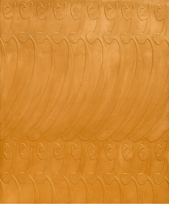 Alizera Astaneh, Golden Love, mixed media on canvas, 170 x 140 cm, 2011