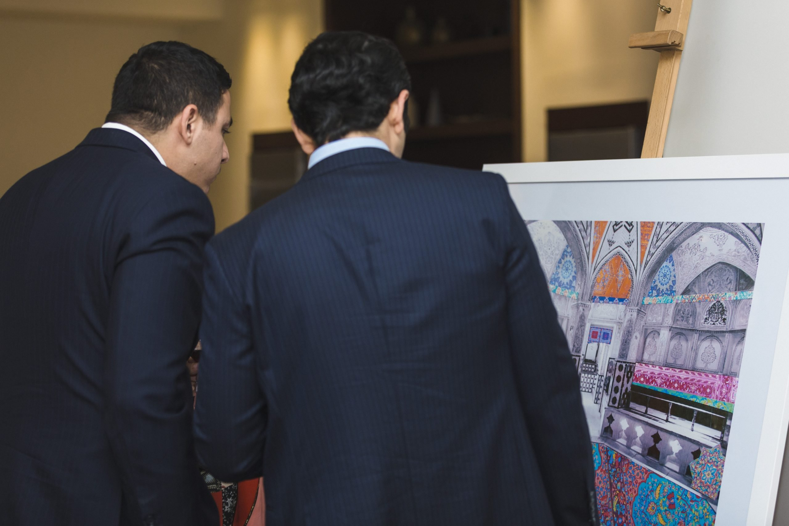 Emergeast collectors viewing Kashan from The Real Me series by Iranian artist Sassan Behnam-Bakhtiar