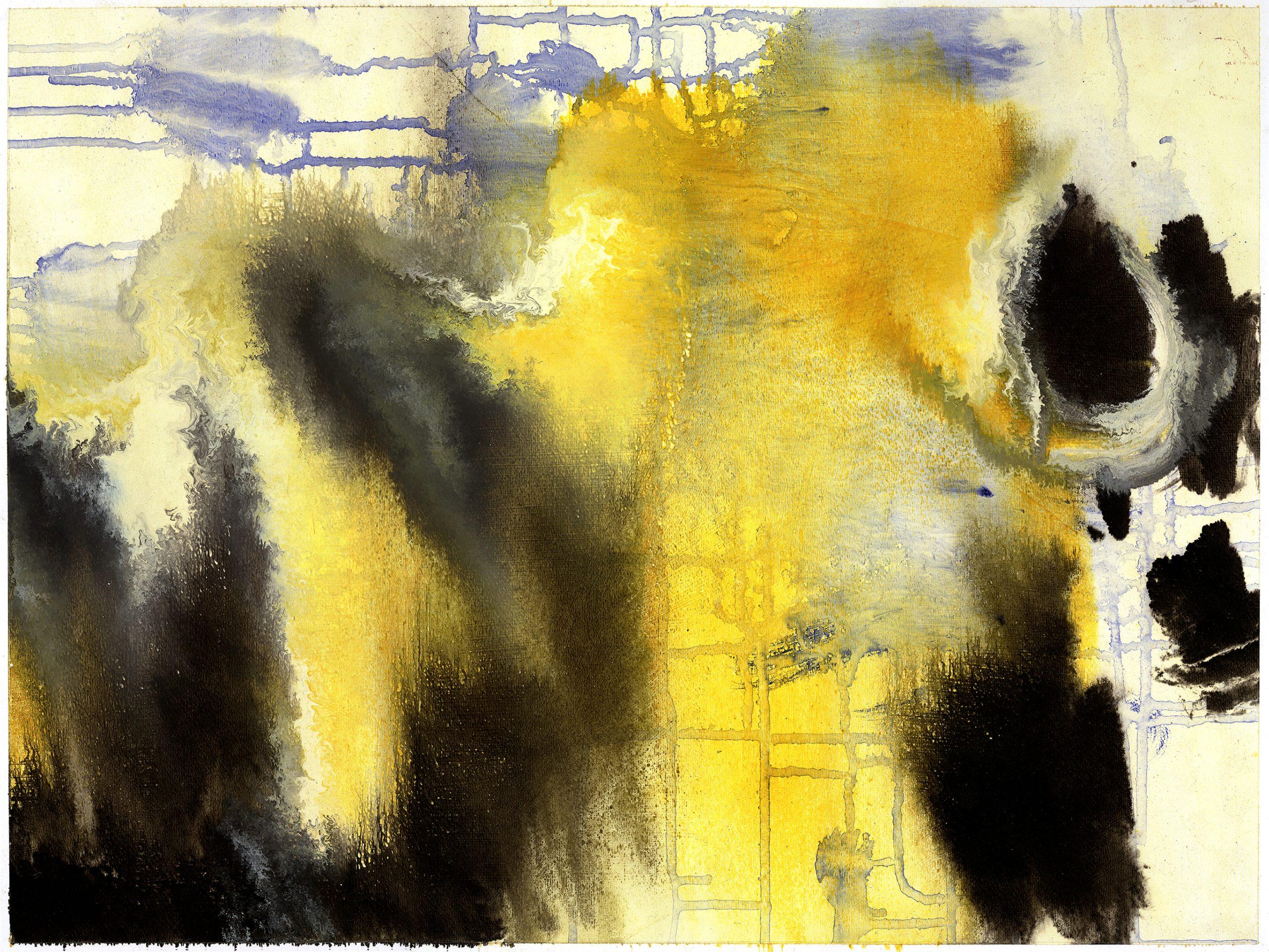 Chelleneshin n°13, Oil on Paper, 46 x 61 cm, 2012