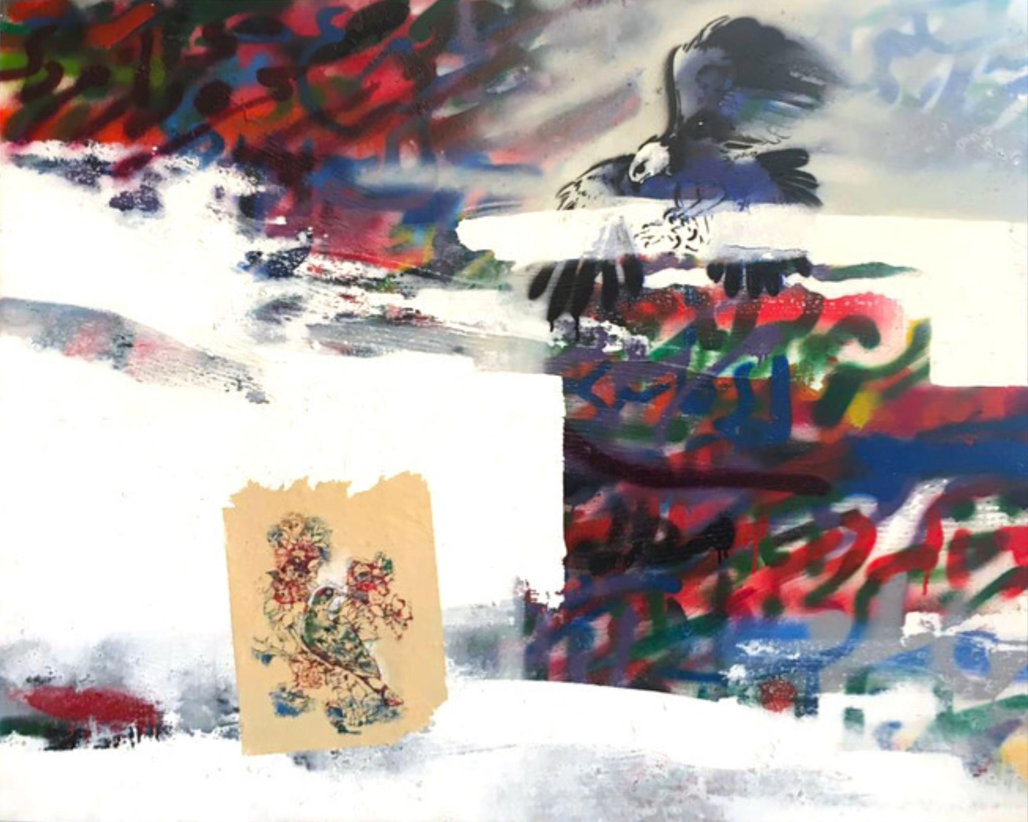 Mehdi Sahabi, Untitled, mixed media on canvas, 2006