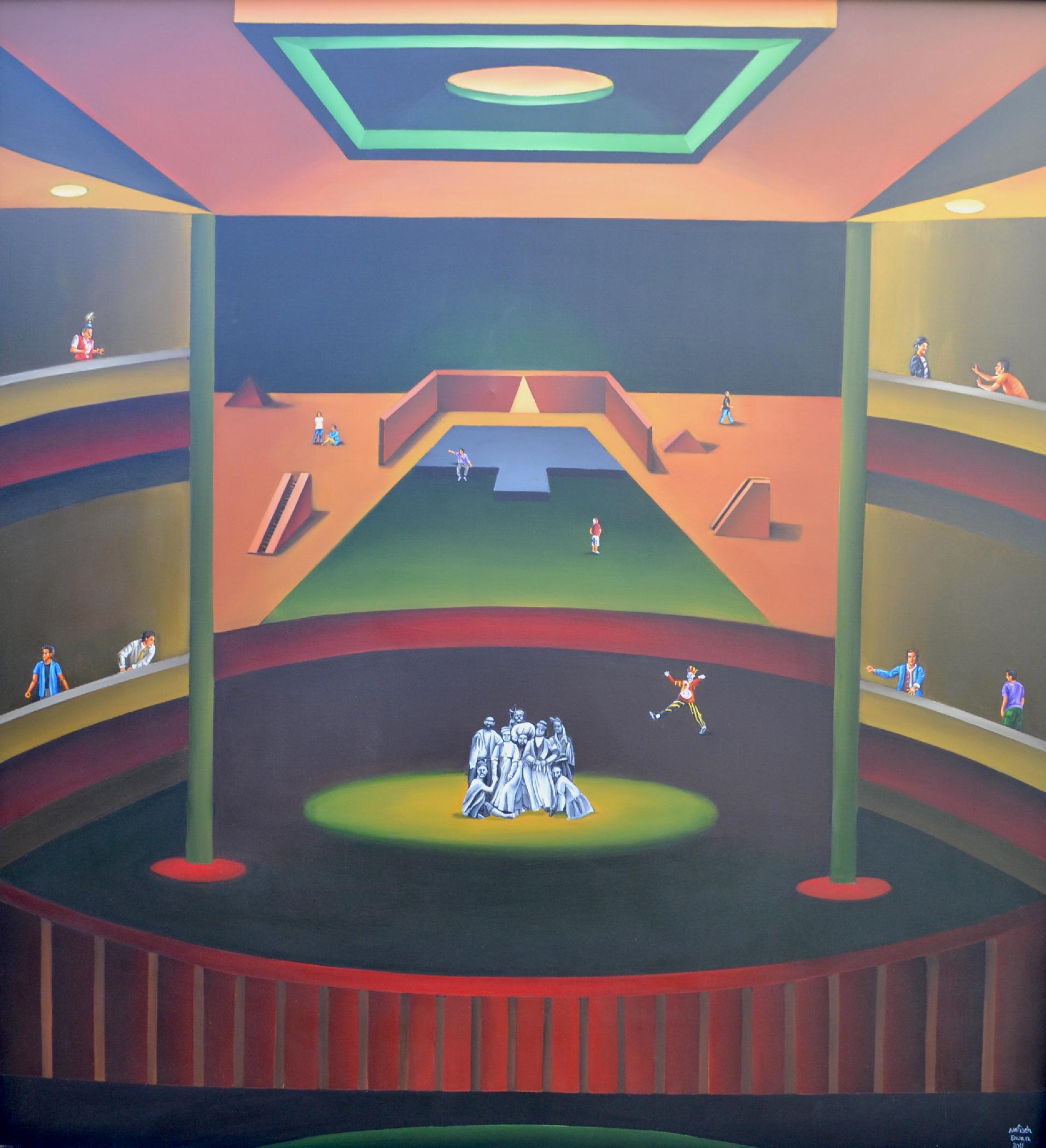 Nafiseh Emran, GG BG, acrylic on canvas, 65 x 59 inches, 2011