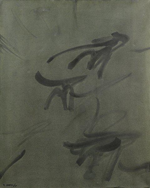 Nasser Assar, Abstract Composition, oil on canvas, 100 x 80 cm, 1960