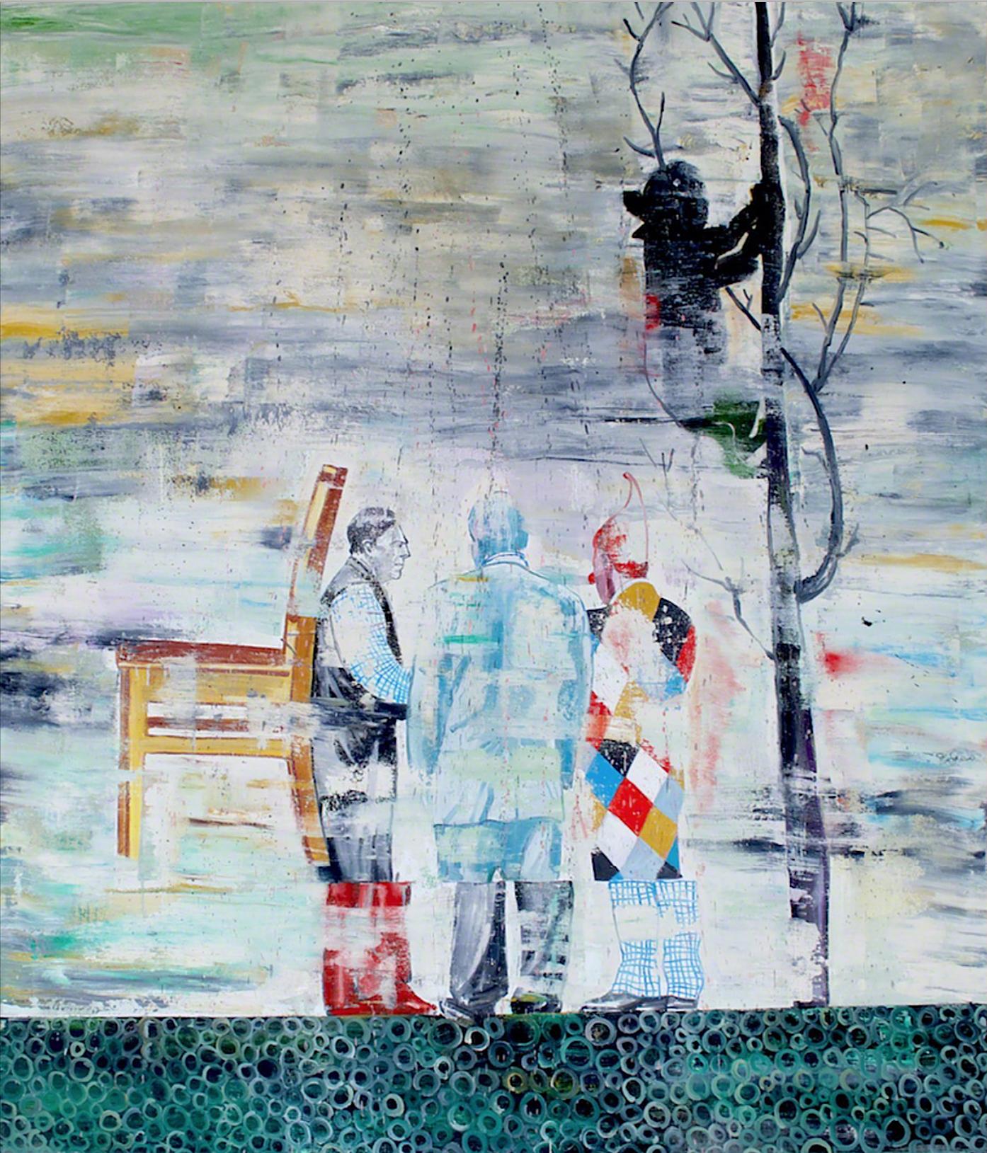 Nicky Nodjoumi, Shades of Jubilation, oil on canvas, 58 x 138 cm, 2011