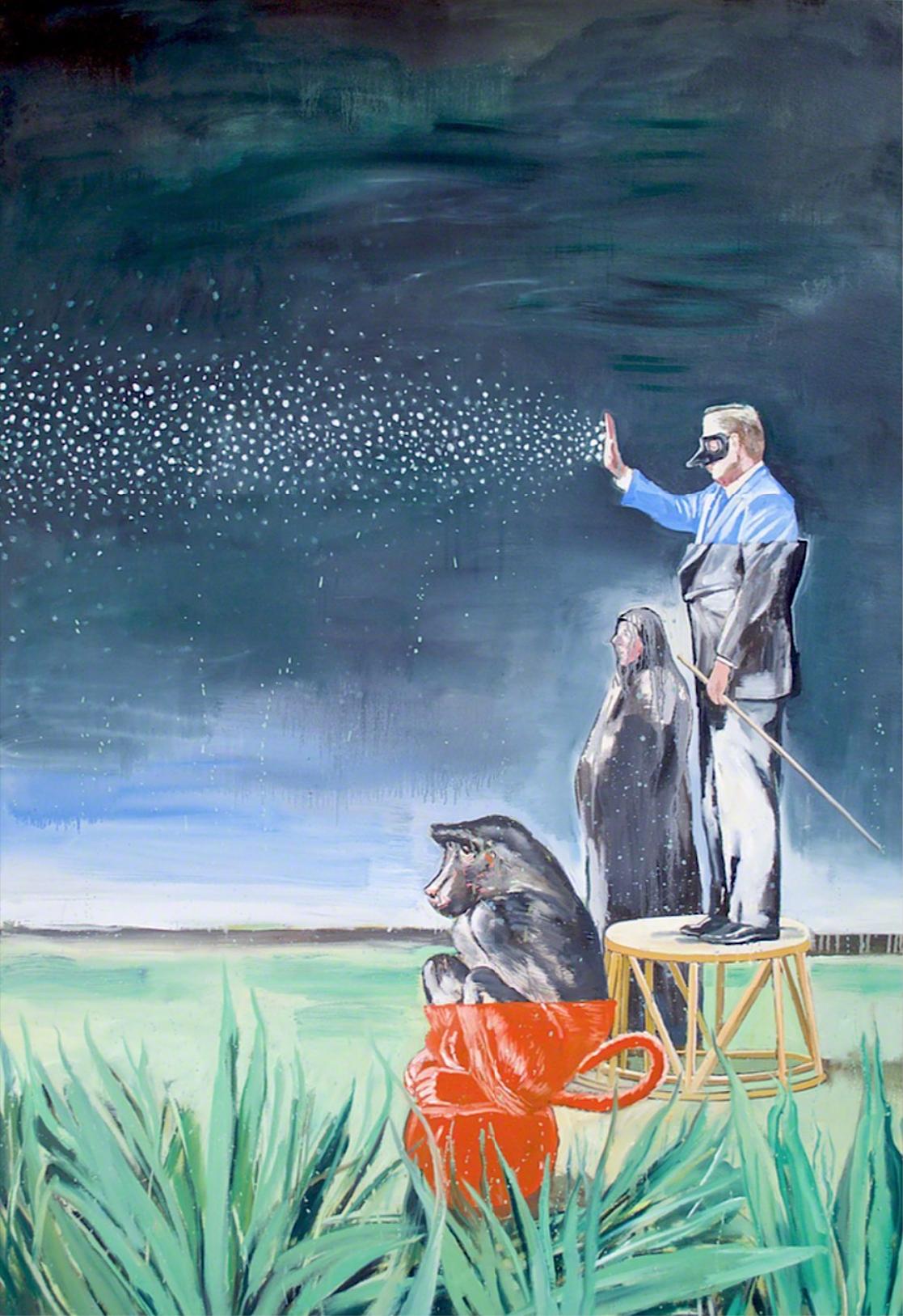 Nicky Nodjoumi, Starry Nights, oil on canvas, 178 x 127 cm, 2003