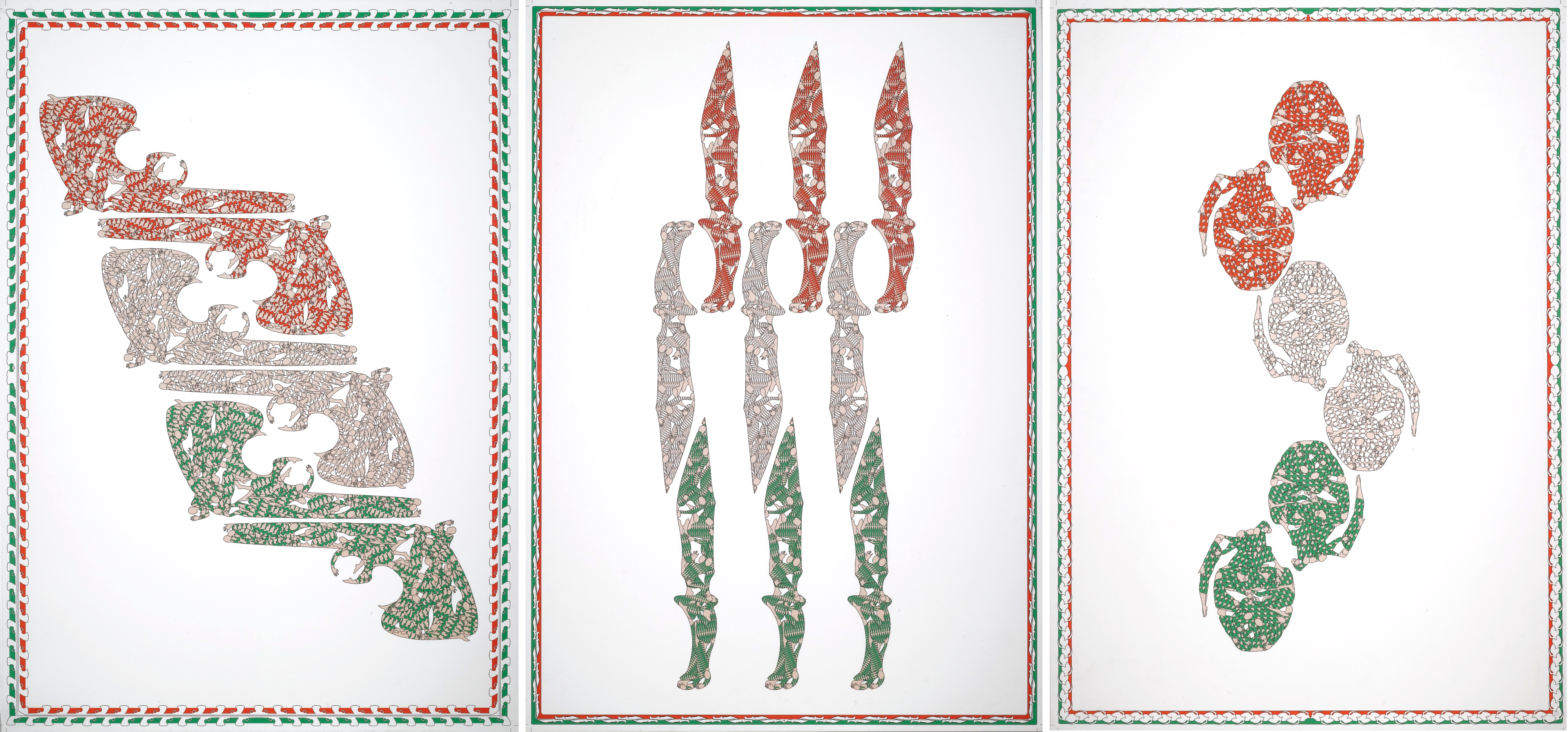 Parastou Forouhar, Untitled from the Flags Collection series, 100 x 70 cm each, 2010