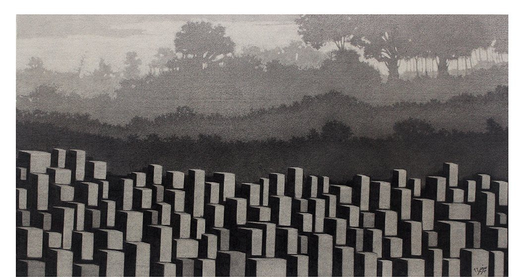 Parham Peyvandi, NO1, pencil on cardboard, 50 x 30 cm, 2016
