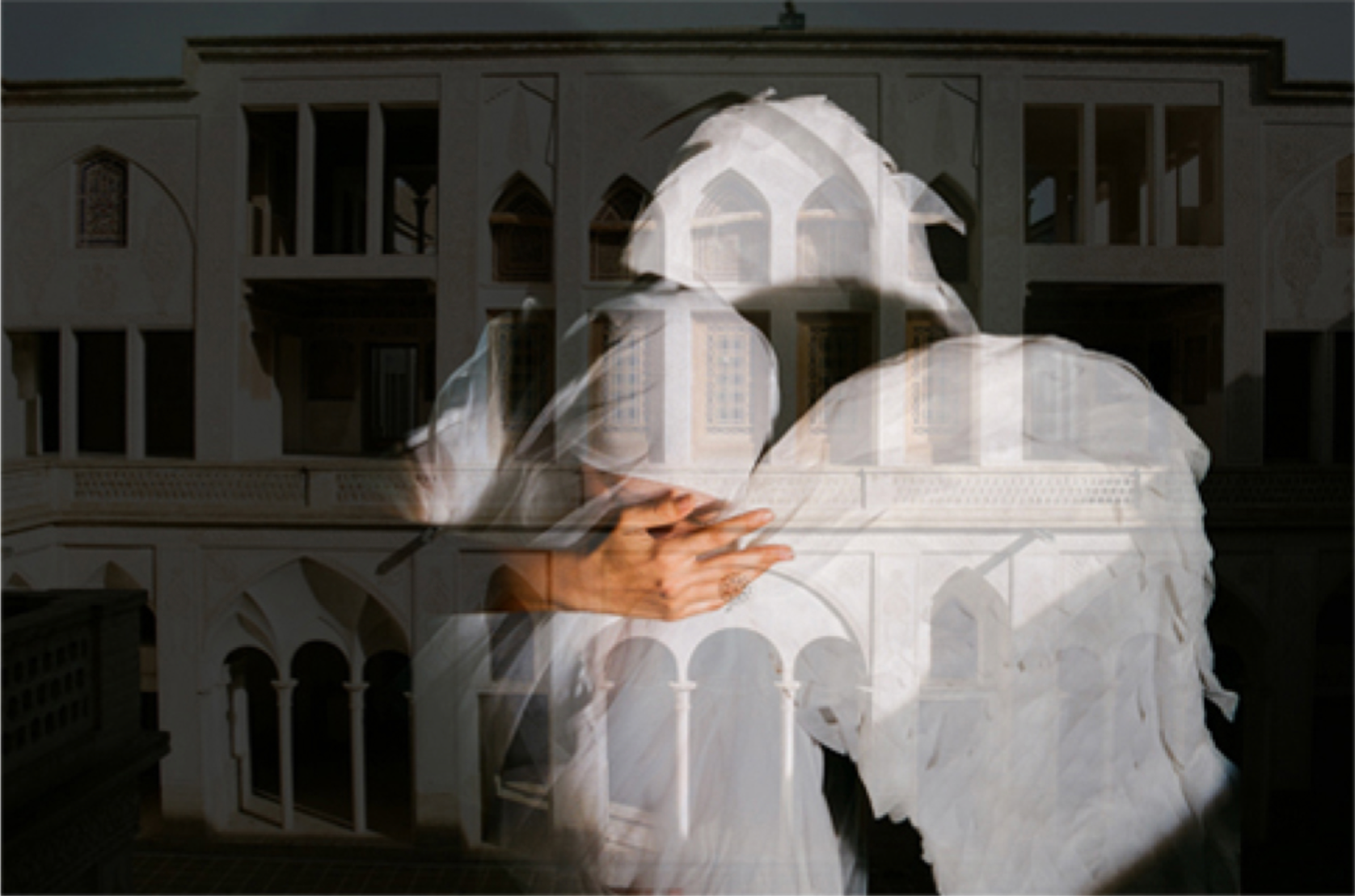 Sele Aboutaleb, Angels, chemical print on photo paper, 87x122 cm, 2017