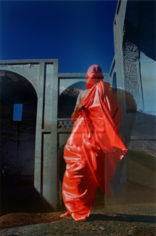 Sele Aboutaleb, Angels, chemical print on photo paper, 100 x 70 cm, 2017